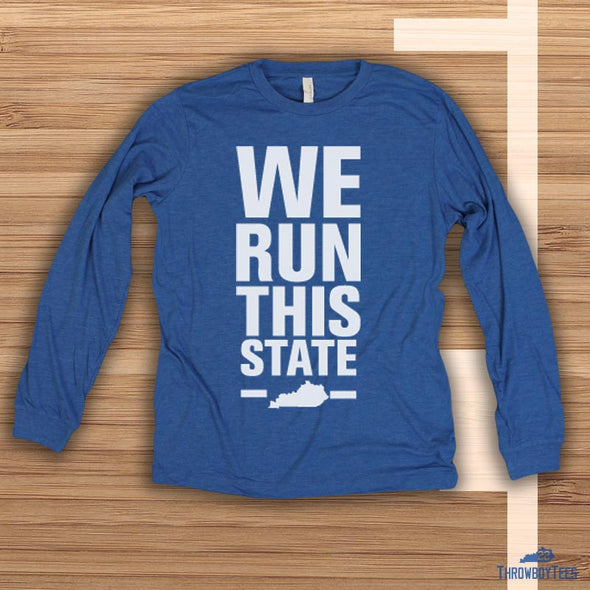We Run This State - Blue Longsleeve