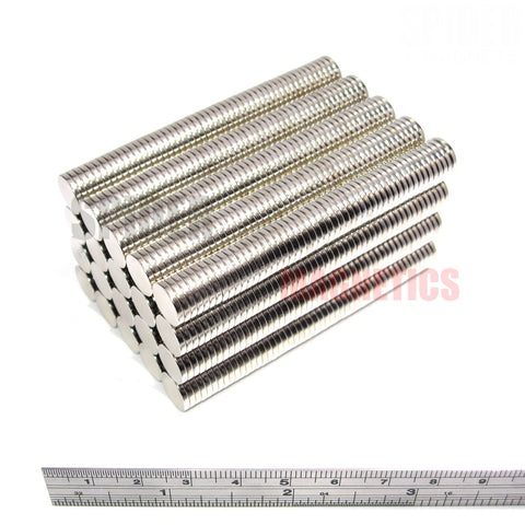 Magnets 10x1.5 mm Neodymium Discs 10mm diameter x 1.5mm thick