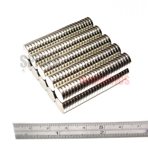 Magnets 10x2 mm N52 grade neodymium discs 10mm diameter x 2mm