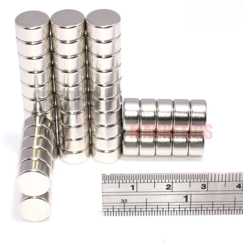 Magnets 10x5 mm Neodymium Discs 10mm diameter x 5mm thick