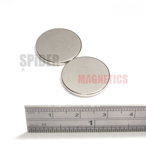 Magnets 20x2 mm Neodymium Discs 20mm diameter x 2mm thick