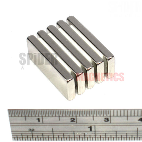Magnets 25x10x3 mm Neodymium Blocks 25mm x 10mm x 3mm thick
