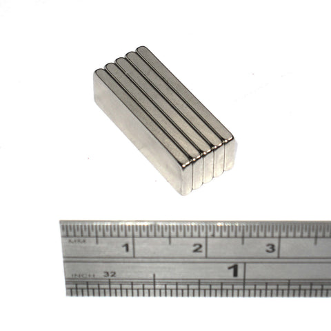 Magnets 25x7x2 mm Neodymium Blocks 25mm x 7mm x 2mm thick - Spider Magnetics Ltd