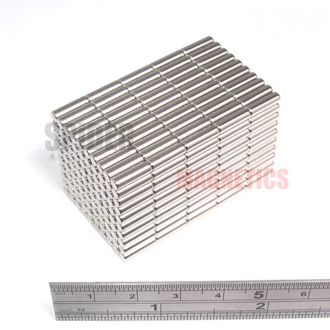 Magnets 3x10 mm Neodymium Discs 3mm diameter x 10mm thick