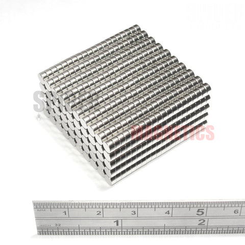 Magnets 4x2 mm Neodymium Discs 4mm diameter x 2mm thick