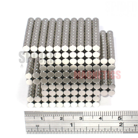 Magnets 4x3 mm Neodymium Discs 4mm diameter x 3mm thick