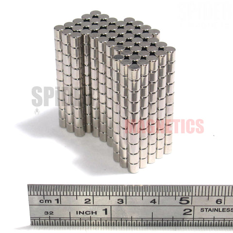 Magnets 4x4 mm Neodymium Discs 4mm diameter x 4mm thick
