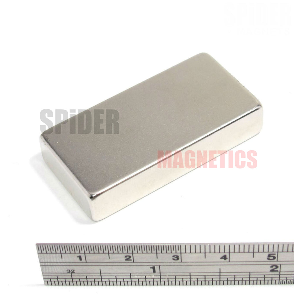 Magnets 50x25x10 mm N52 grade neodymium blocks 50mm x 25mm x 10mm