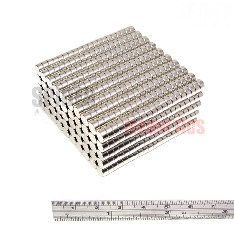 Magnets 6x3 mm Neodymium Discs 6mm diameter x 3mm thick