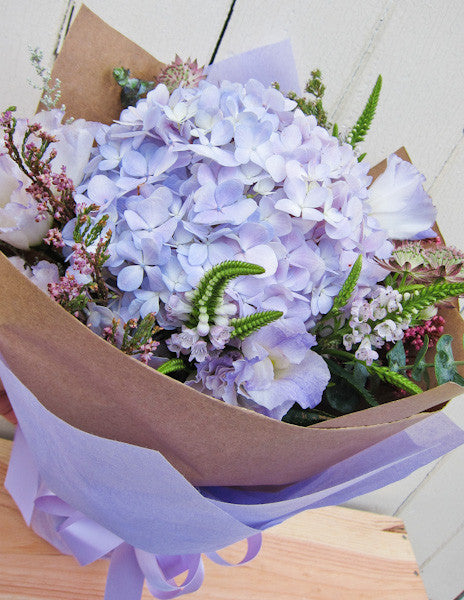 the green room, flower, hydrangea, bouquet, florist