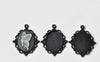 Oval Black Pendant Tray Blanks Base Settings 18x25mm Cabochon Set of 10 A8395