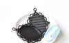 Black Base Pendant Tray Bezel Match 30x40mm Cabochon Set of 5 A8402