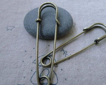 Accessories - 10 Pcs Antique Bronze Kilt Pin Safety Pins Broochs 10x60mm A7640