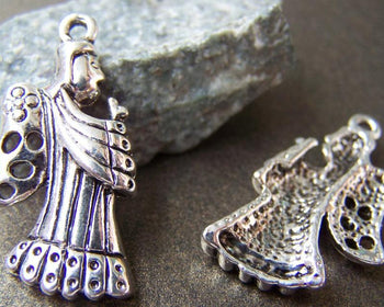 Accessories - 10 Pcs Of Tibetan Silver Antique Silver Fairy Pendants Charms  29mm A3045