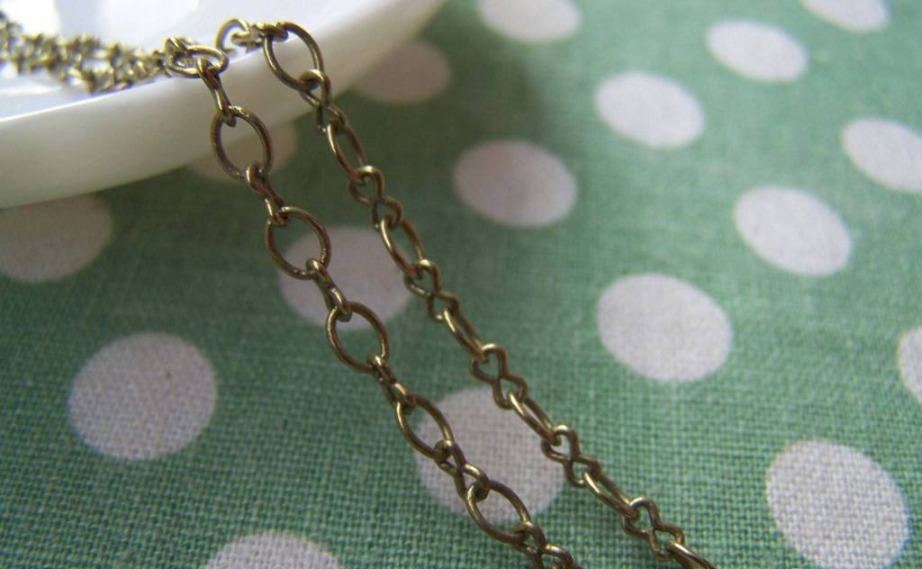 Accessories - 16ft (5m) Of Antique Bronze Brass Figure 8 Connector Chain A2029