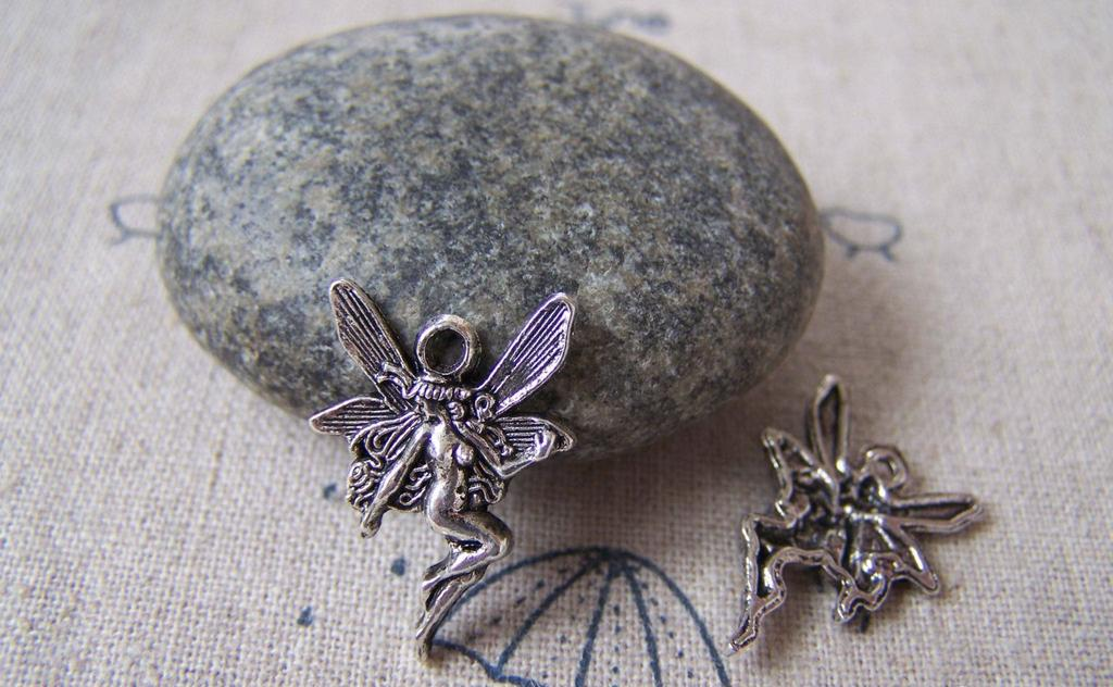 Accessories - 20 Pcs Antique Silver Naked Fairy Charms Size 15x21mm A5325