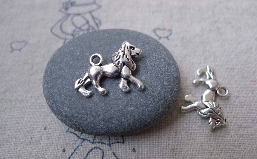 Accessories - 20 Pcs Of Antique Silver Lion Charms 14x20mm Double Sided  A7572