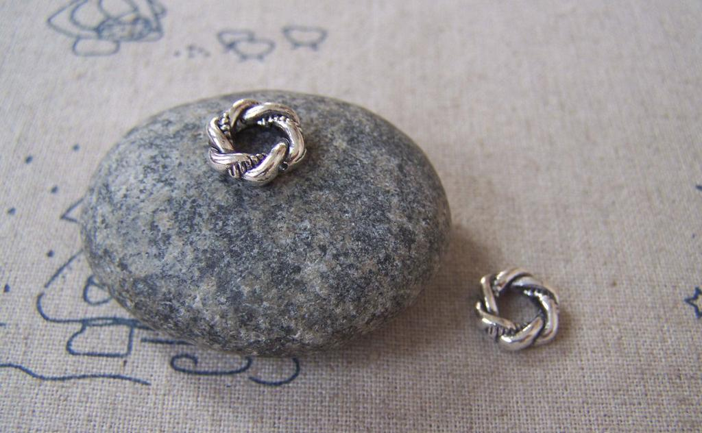 Accessories - 20 Pcs Of Antique Silver Lovely Twisted Coiled Ring 3x11mm A4485