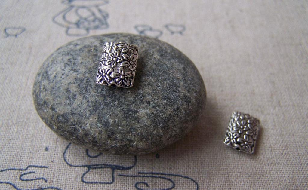 Accessories - 20 Pcs Tibet Silver Antique Silver Flower Spacer Beads Charms   4x8x12mm   A4088