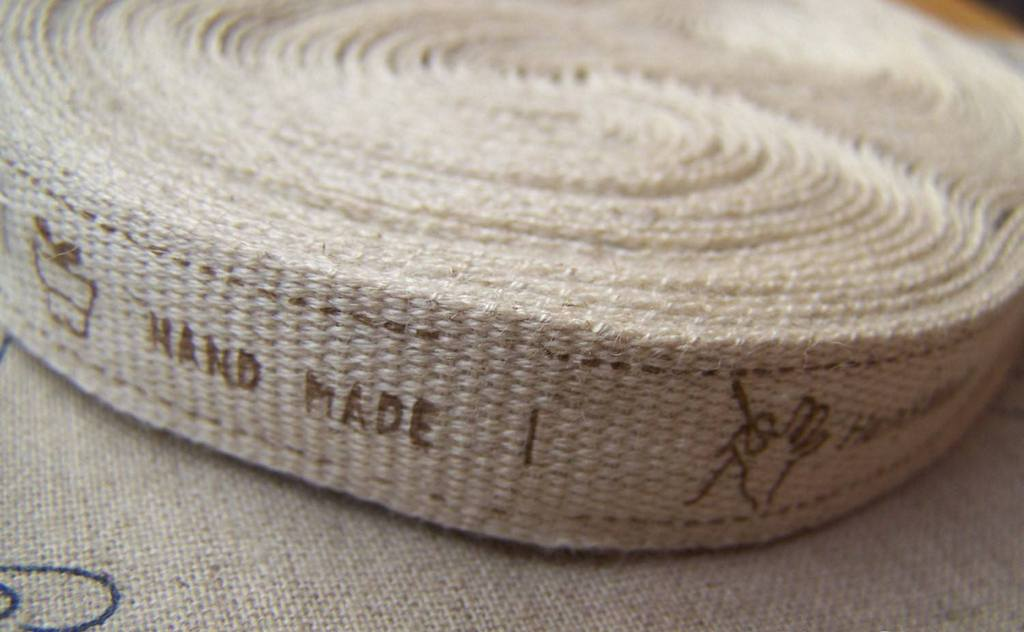 Accessories - 5.46 Yards (5 Meters) Lovely Hand Made Print Linen Ribbon Label String A2579