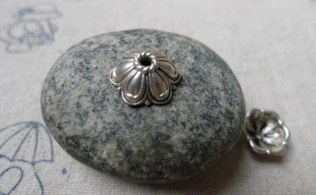 Accessories - Antique Silver Flower Spacer Bead Caps 11.5mm Set Of 50 Pcs A5941