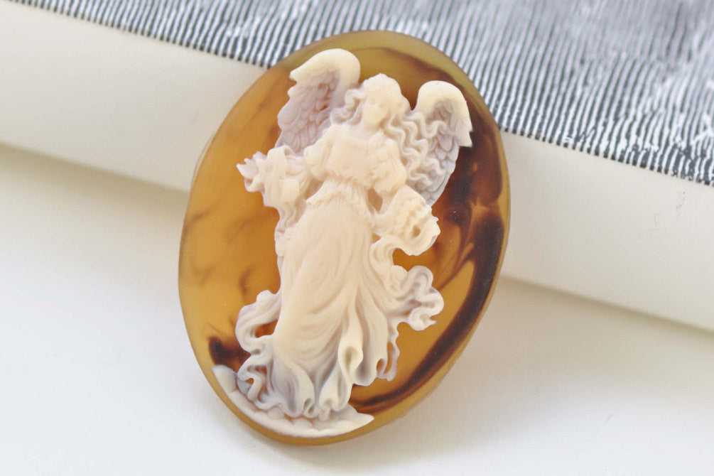 Gorgeous 1 pc Resin Angel Oval Cameo Cabochon 30x40mm A390