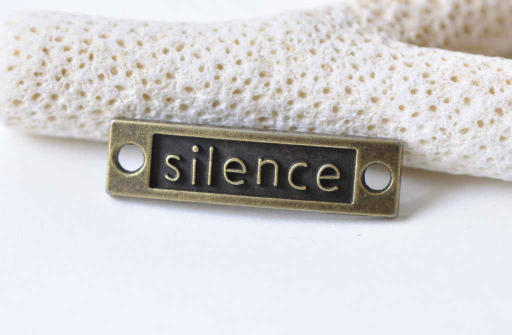 10 pcs Silence Curved Bar Bracelet Connector Charms A8712