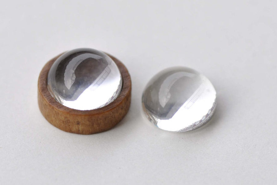 20 pcs Crystal Glass Magnifying THICK Round Cabochon 14mm A8756