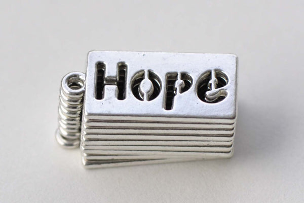 10 pcs Antique Silver Rectangle Word Charms A8773