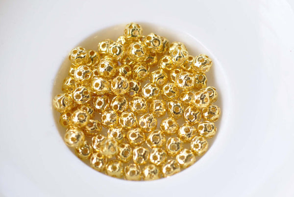 300 pcs Gold Tone Filigree Ball Spacer Beads Size 4mm A8779