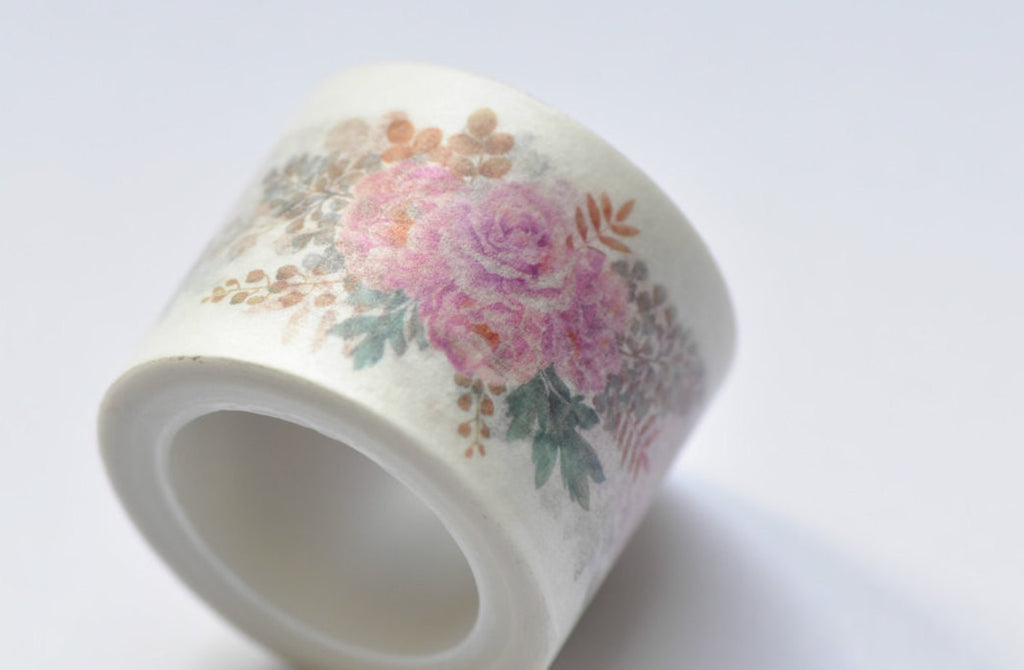 Flower Blossom Washi Tape 30mm x 5M Roll A12046