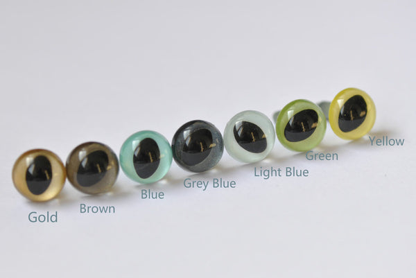 10 pcs 9mm Toy Cat Eyes Plastic Safety Animal Eyes Come With Washers