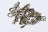 Antique Bronze Skeleton Key Charms Pendants Assorted Set of 40 A8784