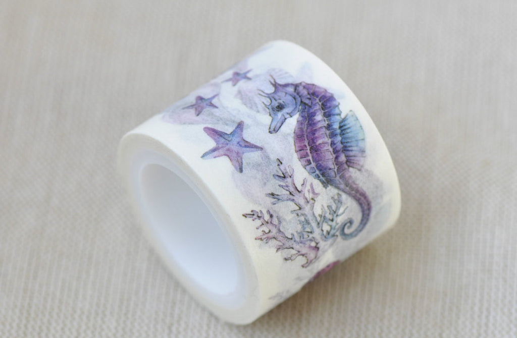 Mermaid Hippo Conch Starfish Washi Tape 30mm x 5M Roll A12047