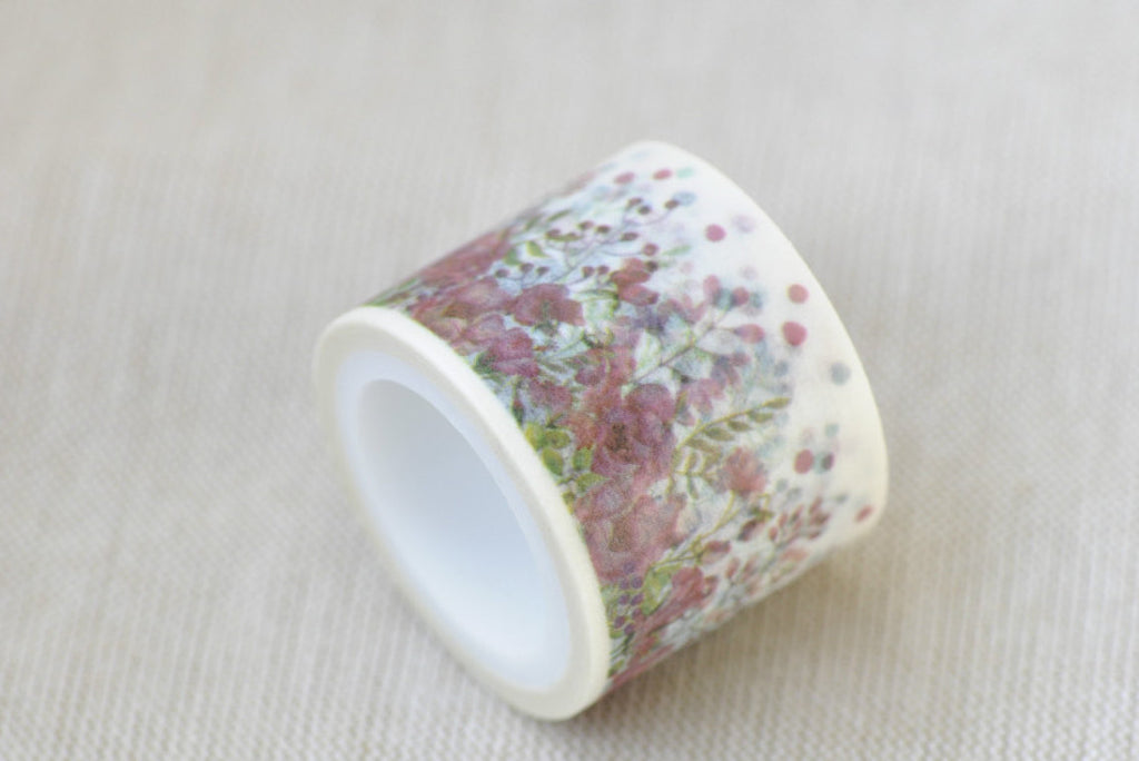 "1.18"" (30mm) Width Colorful Flowers Wide Washi Tape 5 Yards A12072"