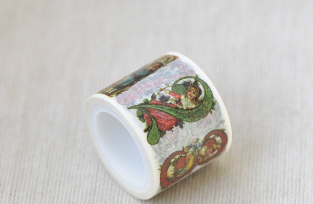 Number Washi Tape Baby Angel Masking Tape 30mm x 5M Roll A12103
