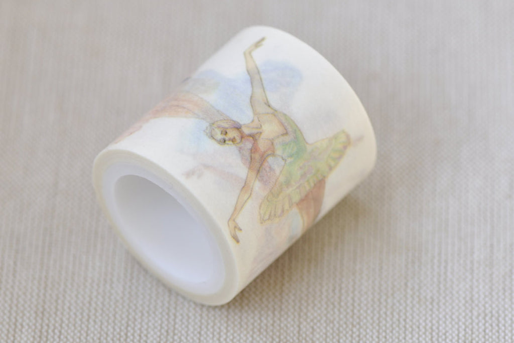 Ballet Dancer Washi Tape  Masking Tape 40mm x 5M Roll A12142