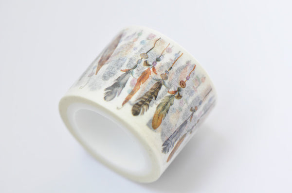 Feather Washi Tape Japanese Masking Tape 30mm x 5M Roll A12234