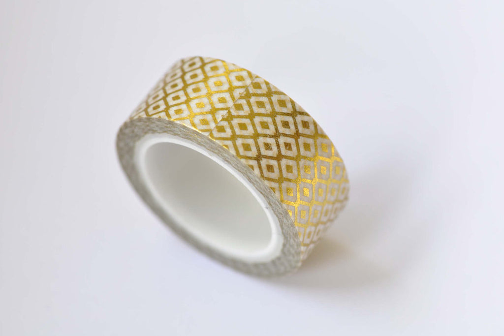 1 Roll Gold Washi Tape Planner Tape 15mm Wide x 10M Long A12270