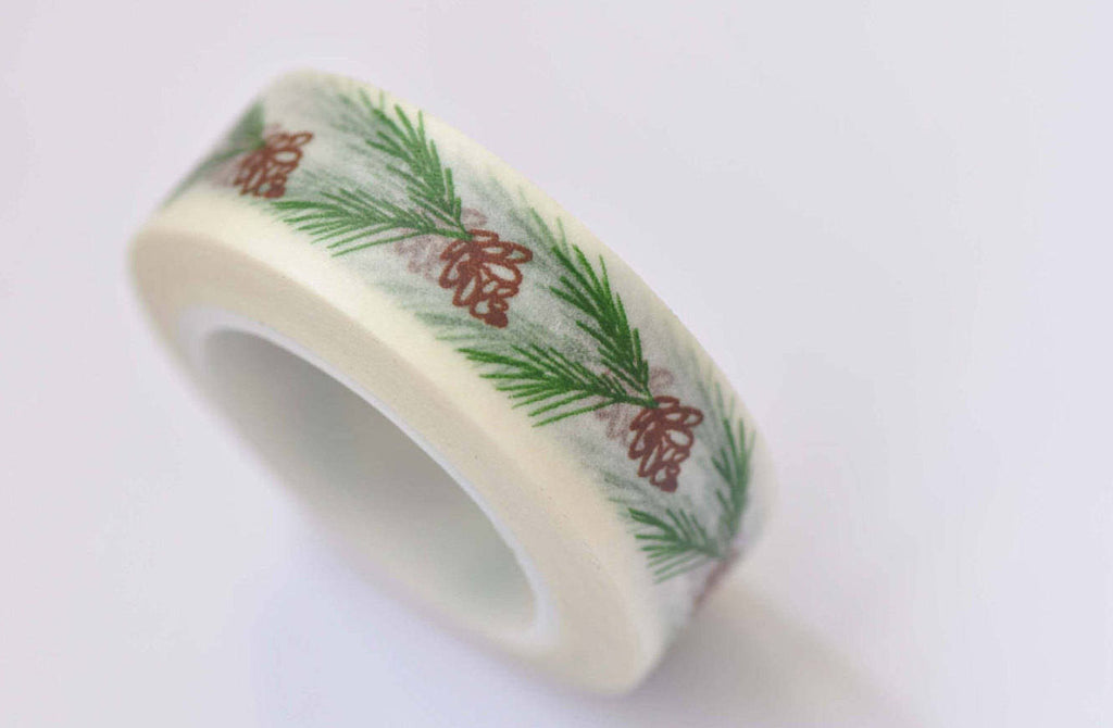 Pinecones Leaf Crafting Washi Tape 15mm x 10M Roll A12410