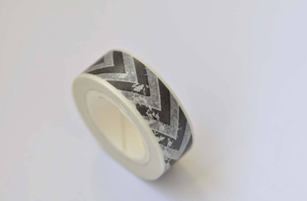 1 Roll Black Stripe Washi Tape 15mm Wide x 10M Long A12354