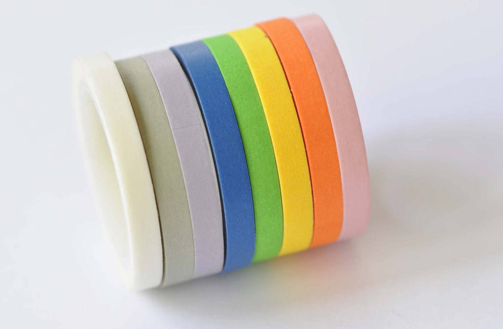 Colorful Washi Tape Set/ Set of 8 Colors/5mm Wide A12383