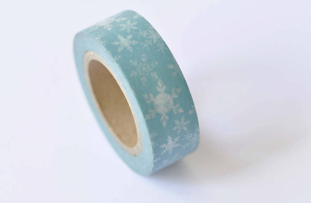 Winter Snowflake Washi Tape Scrapbook Supply 15mm x 10M Roll A12394