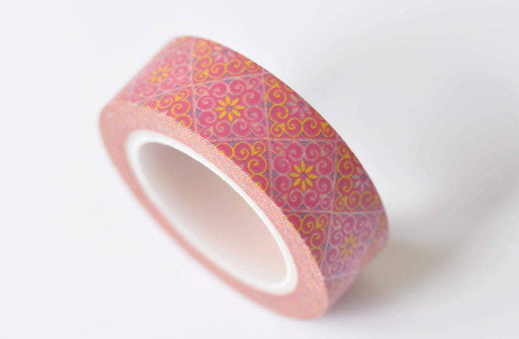 Vintage Flowers Washi Tape 15mm x 10M Roll A12401