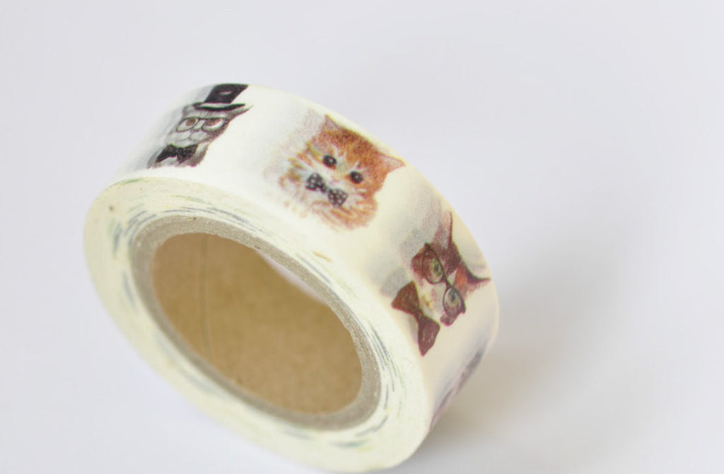 Cute Kitten Cat Washi Tape Masking Tape 15mm x 10M Roll A12102