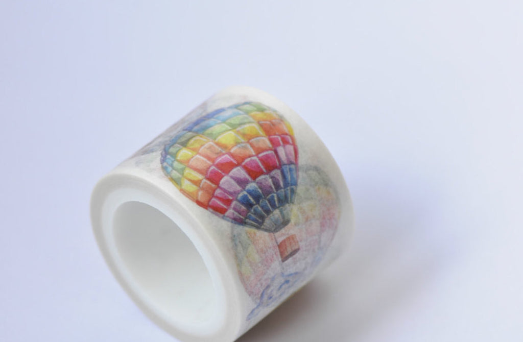 Colorful Hot Air Balloon Washi Tape 5.5 Yards Length A12073