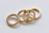 10 pcs 24K Champagne Gold Thick Seamless Circle Rings 14mm A8833
