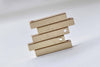 10 pcs Anti Tarnish Gold Rectangle Solid Bar Drop Charms A8838