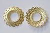 10 pcs Raw Brass Round Flower Ring Embellishments 29mm A8861