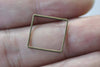 50 pcs Square Rings Antique Bronze Seamless Frame 14mm/16mm/20mm